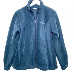 COLUMBIA Teal Fleece Jacket Size Large